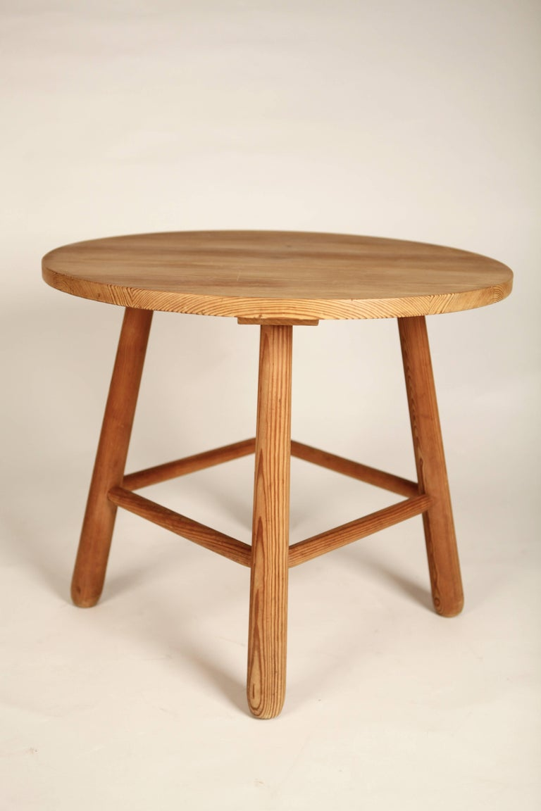 20th Century Style of Axel Einar Hjorth, Pine Table, Nordiska Kompaniet, 1930s For Sale