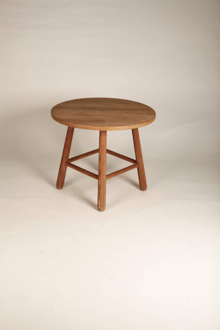 Style of Axel Einar Hjorth, Pine Table, Nordiska Kompaniet, 1930s For Sale 1