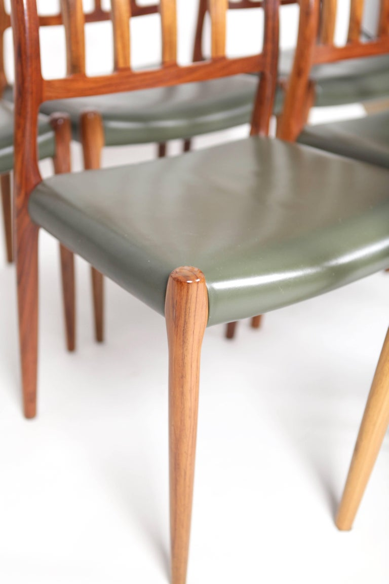 Late 20th Century Niels O. Møller, Set of Six East Indian Rosewood Dining Chairs For Sale