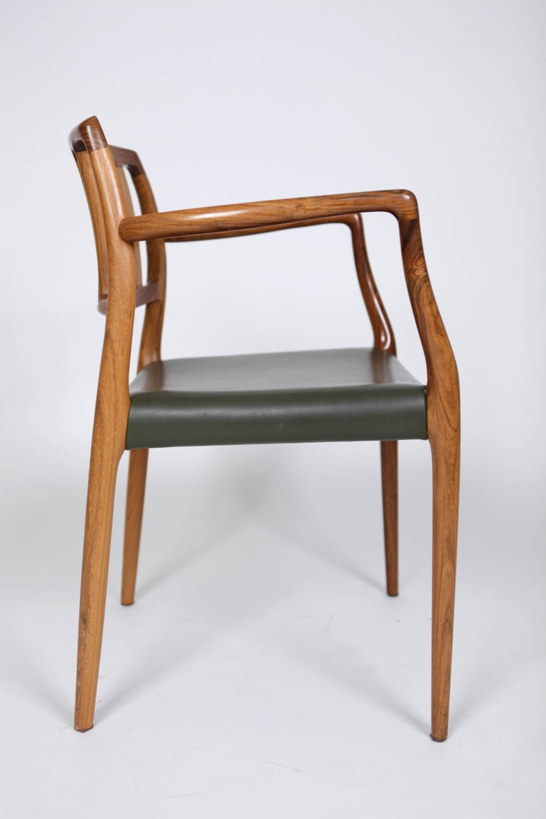 Niels O. Møller, Set of Six East Indian Rosewood Dining Chairs For Sale 1