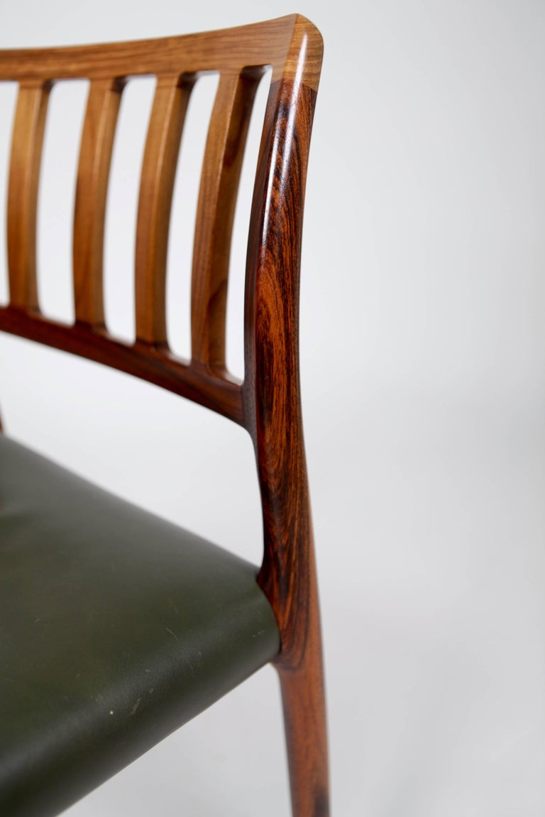 Niels O. Møller, Set of Six East Indian Rosewood Dining Chairs For Sale 2