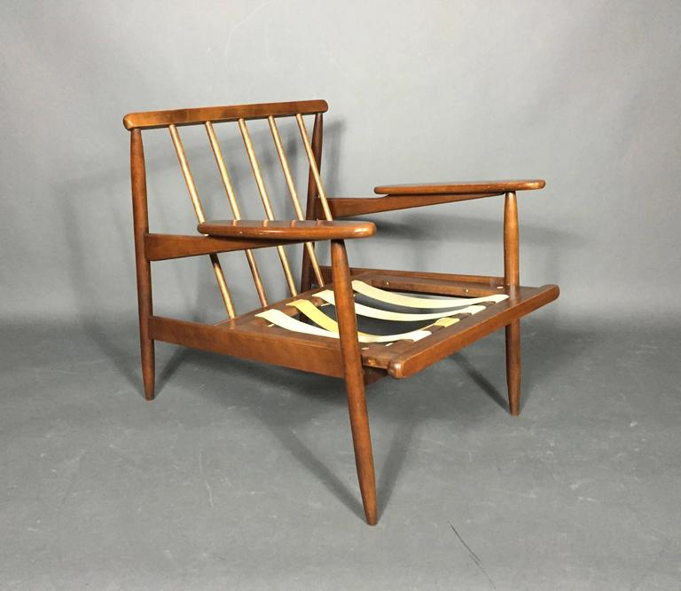 1950s American Modern Walnut Lounge Chair, Eleanor Pritchard Cover For Sale 4