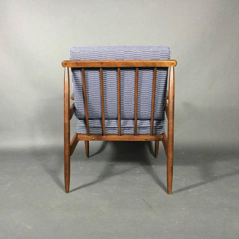1950s American Modern Walnut Lounge Chair, Eleanor Pritchard Cover For Sale 1