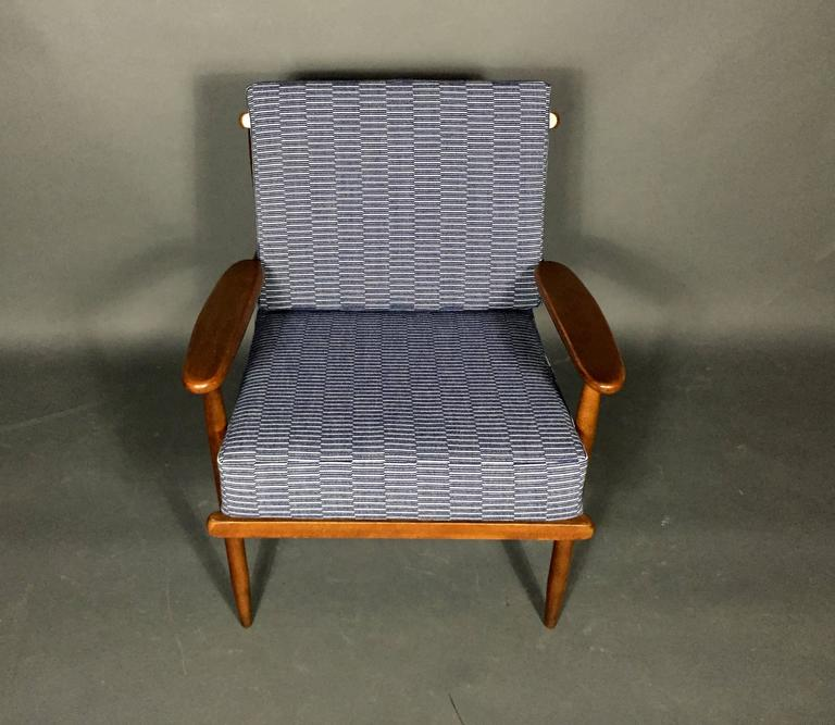 1950s American Modern Walnut Lounge Chair, Eleanor Pritchard Cover For Sale 2