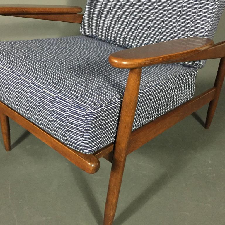 1950s American Modern Walnut Lounge Chair, Eleanor Pritchard Cover For Sale 3