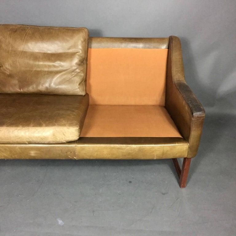 rudolf b glatzel two seat leather sofa for kill international 1960s germany for sale at 1stdibs. Black Bedroom Furniture Sets. Home Design Ideas