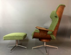 George Mulhauser for Plycraft Lounge Chair and Ottoman, 1970