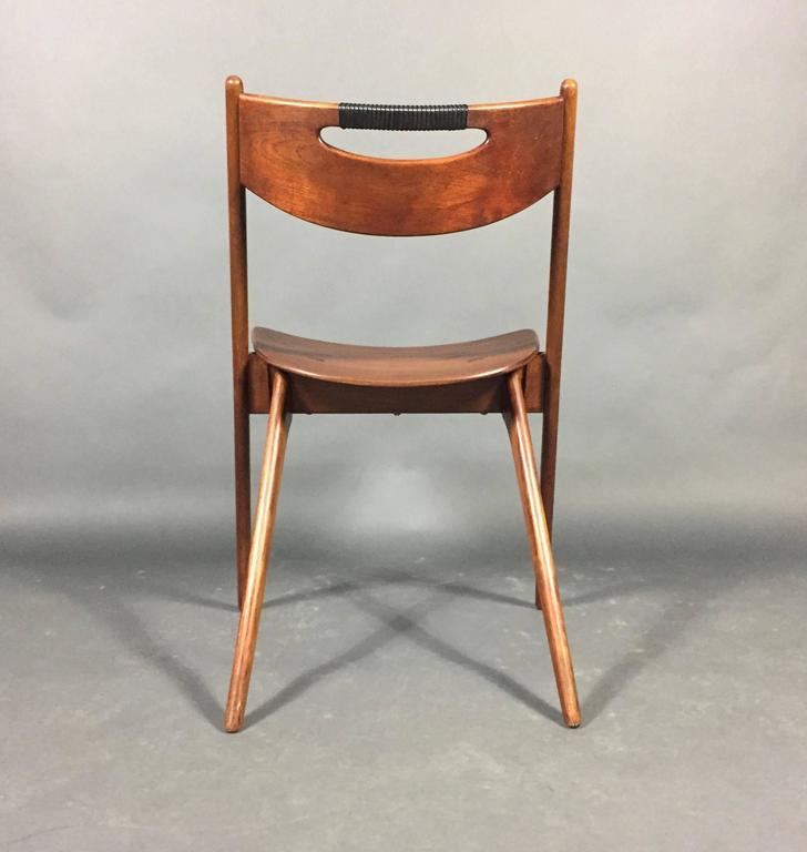 Arne Hovmand Olsen Oak And Plastic Wrap Chair Denmark