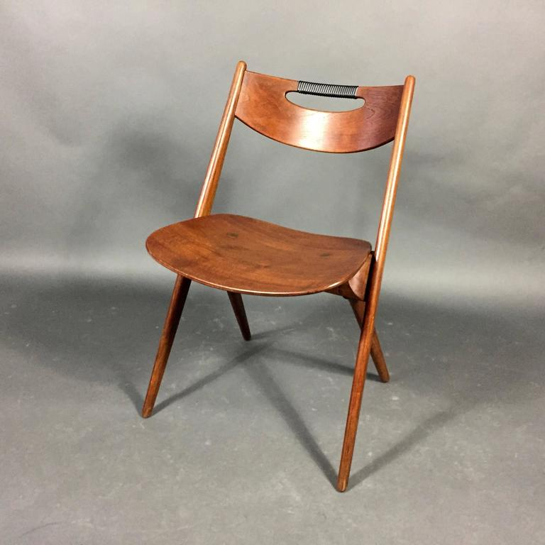 Arne Hovmand Olsen Oak And Plastic Wrap Chair Denmark 1957 At 1stdibs