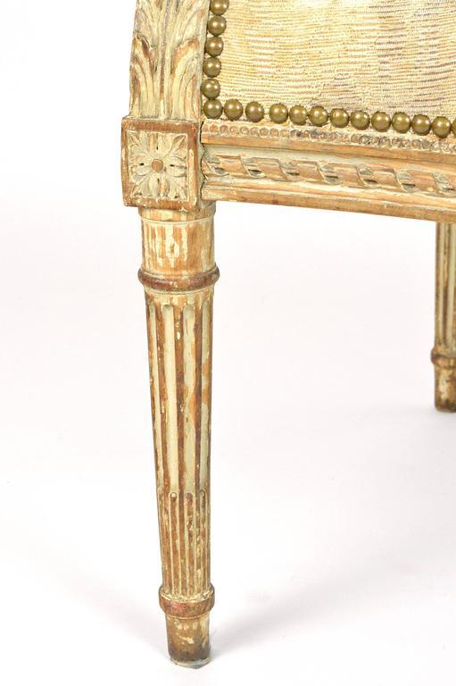 Wonderful 19th Century Louis XVI Style Hooded Butleru0027s Chair 3