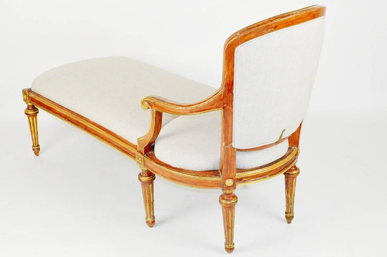 french directoire style painted and parcel gilt chaise. Black Bedroom Furniture Sets. Home Design Ideas