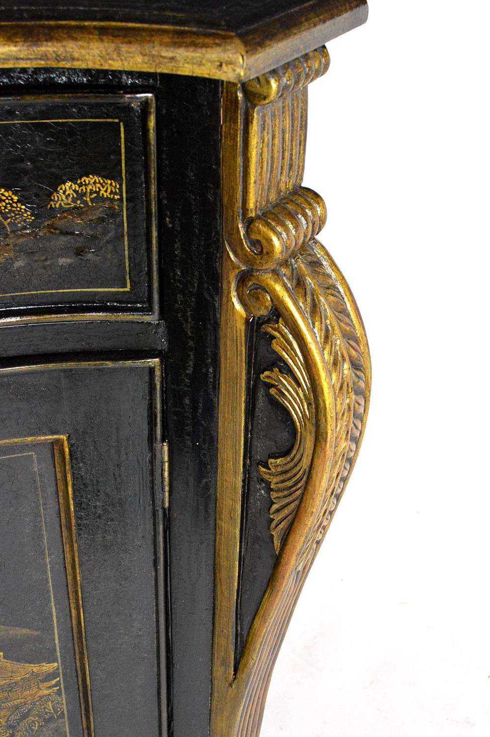 door for kitchen cabinet black chinoiserie decorated two door cabinet at 1stdibs 15002