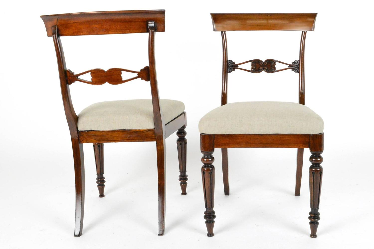 Set Of Four English Regency Style Rosewood Dining Chairs At 1stdibs