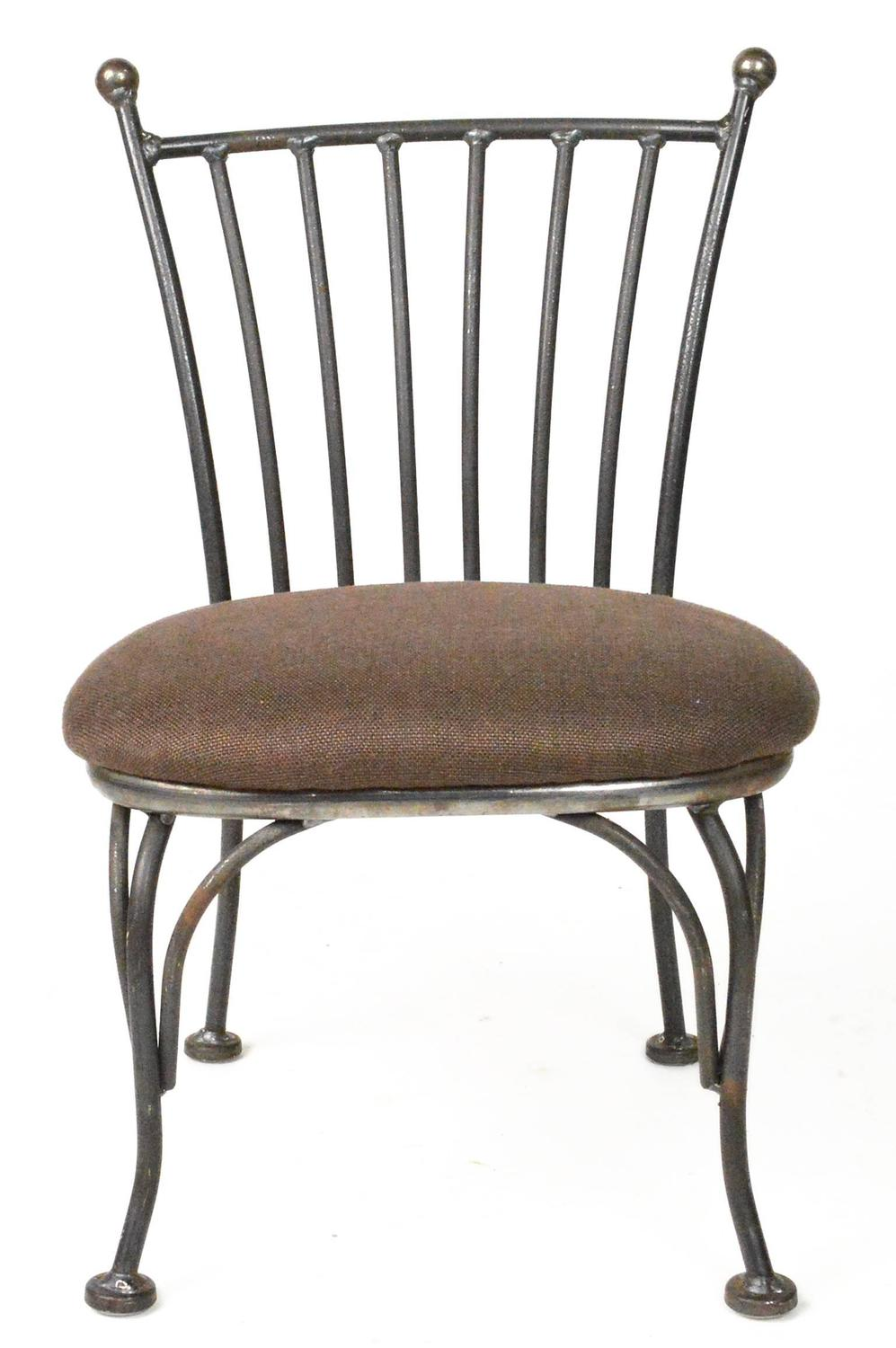 Dorothy Draper Chairs Pair of Child's Iron Bistro Chairs For Sale at 1stdibs