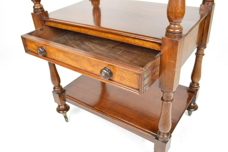 Th century english mahogany trolley or dumbwaiter at stdibs