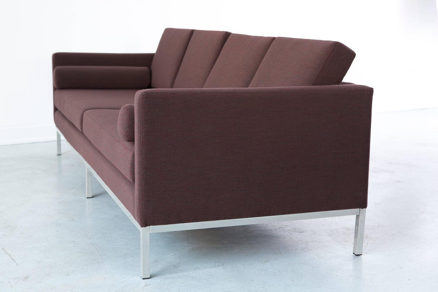 milo baughman sofa newly reupholstered for sale at 1stdibs
