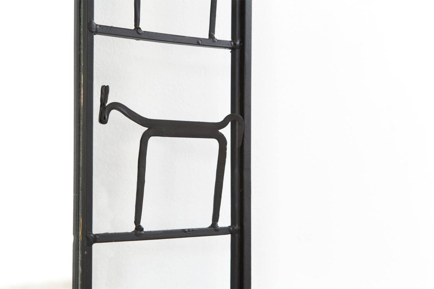 Mid century modern mirror by frederick weinberg for sale for Small wall mirrors for sale