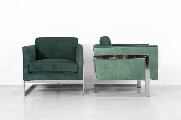 Set Of Mid Century Modern Milo Baughman Chairs At 1stdibs