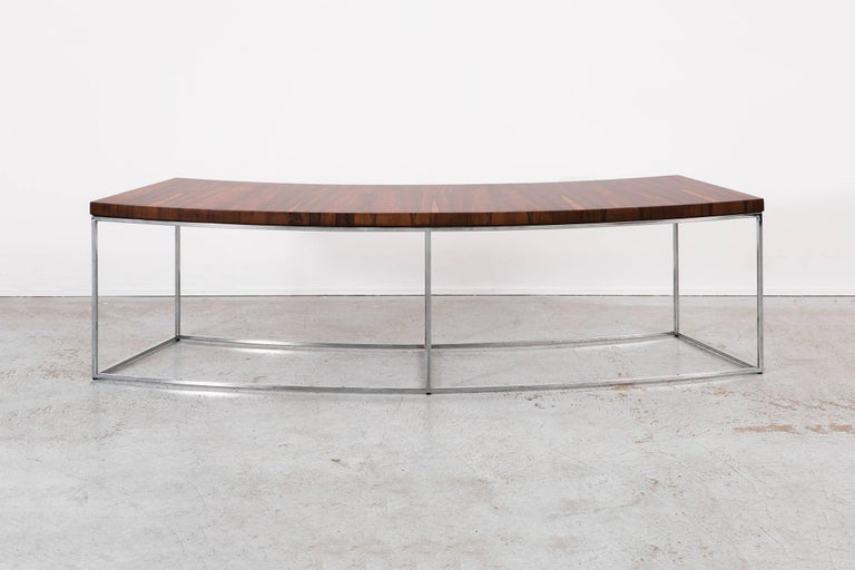 American Milo Baughman Mid-Century Modern Rosewood Bench, Sofa Table For Sale