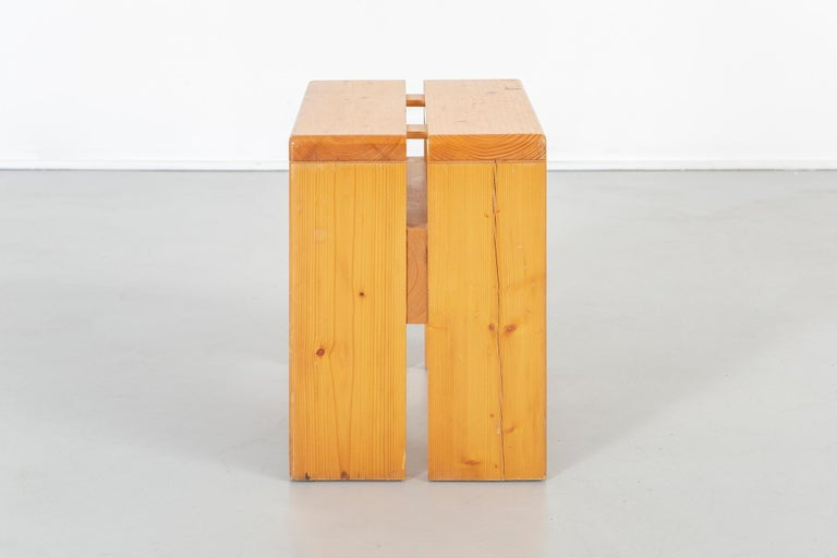 Set of Charlotte Perriand Pine Stools for Les Arcs In Excellent Condition For Sale In Chicago, IL