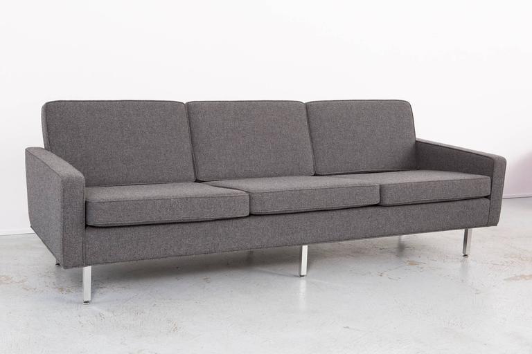 Thonet sofa,  circa 1950s.  Reupholstered in Maharam fabric.  Dimensions: 28