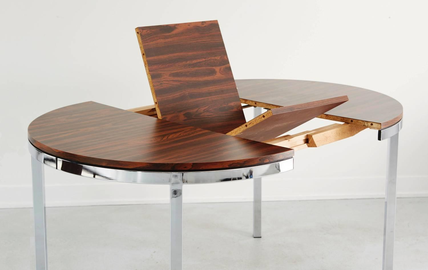 Rosewood Veneer Expanding Dining Table At 1stdibs