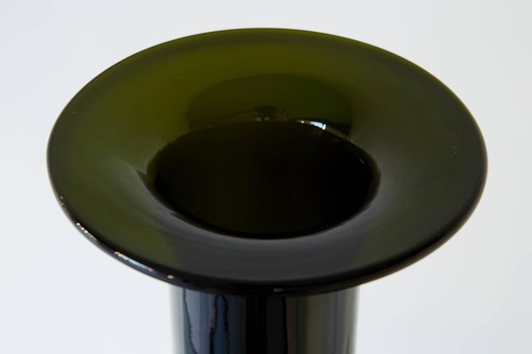 Danish Glass Bottle Vase by Kastrup Holmegaard For Sale