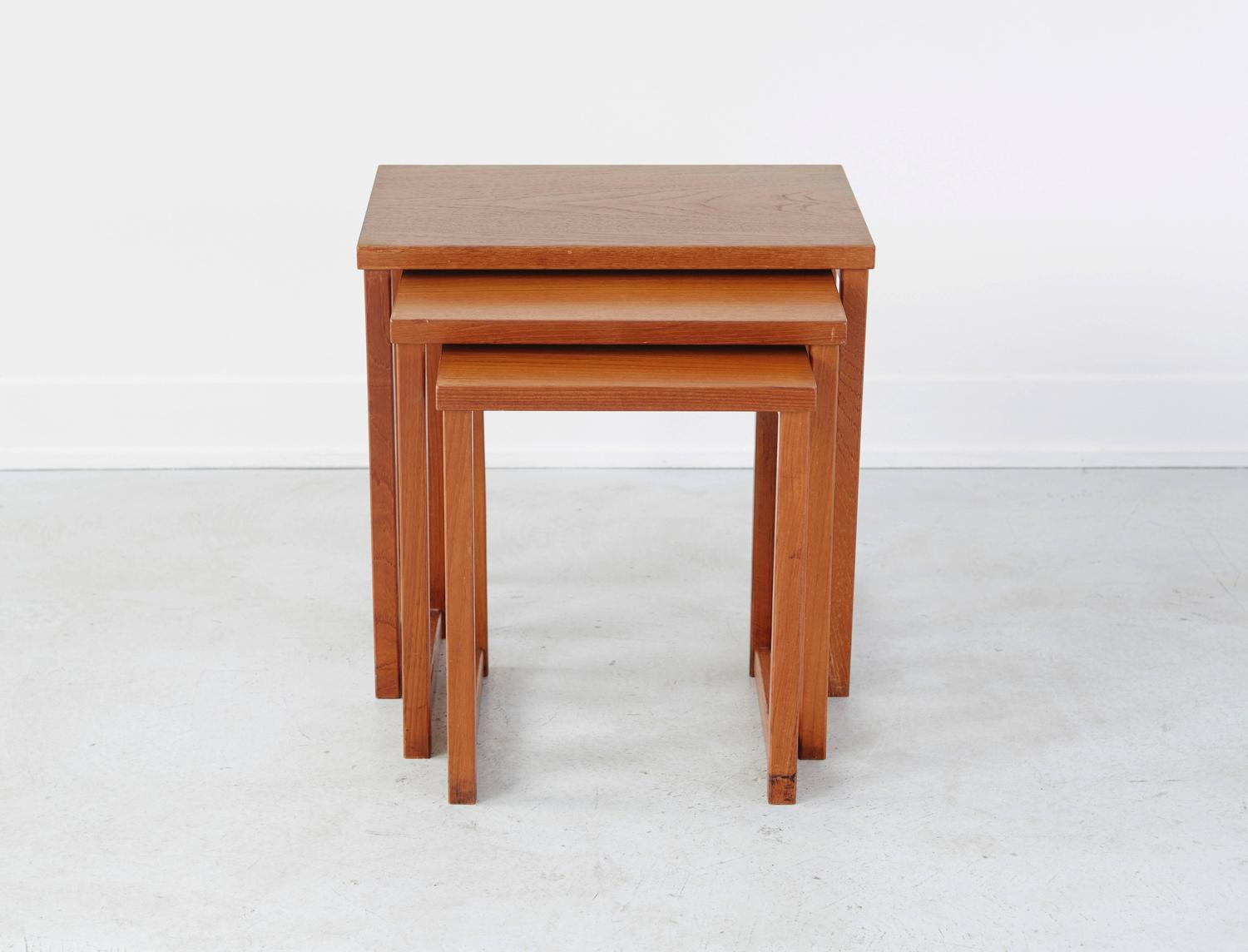 Kai Kristiansen Nesting Tables For Sale At 1stdibs. Full resolution‎  image, nominally Width 1500 Height 1144 pixels, image with #AB5220.