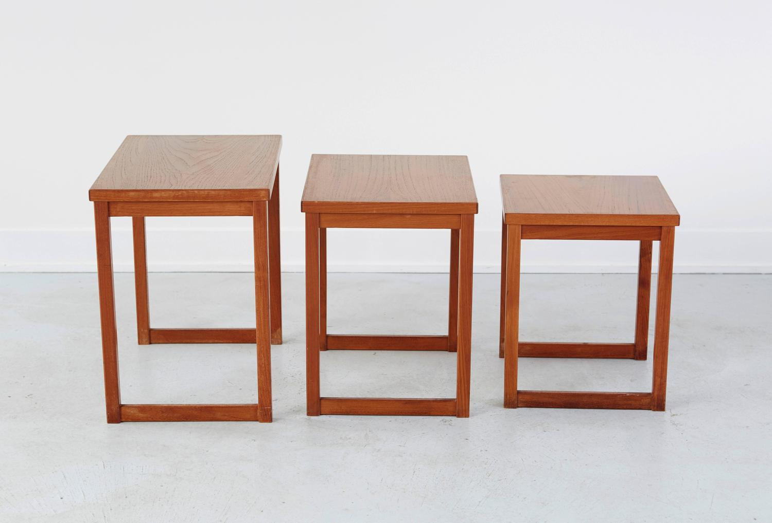 Kai Kristiansen Nesting Tables For Sale At 1stdibs. Full resolution‎  image, nominally Width 1500 Height 1018 pixels, image with #4F170C.