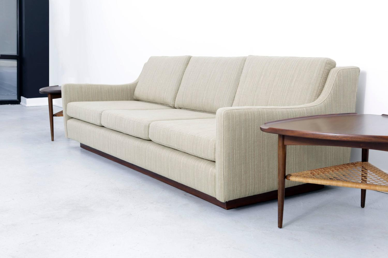 mid century modern milo baughman sofa newly reupholstered