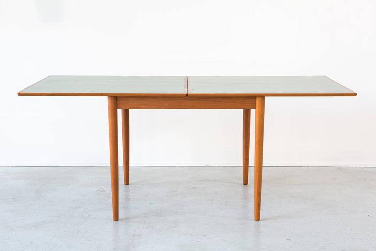 Flip Top Dining Or Game Table By Børge Mogensen For Soborg Mobelfabrik.  Jade Stained