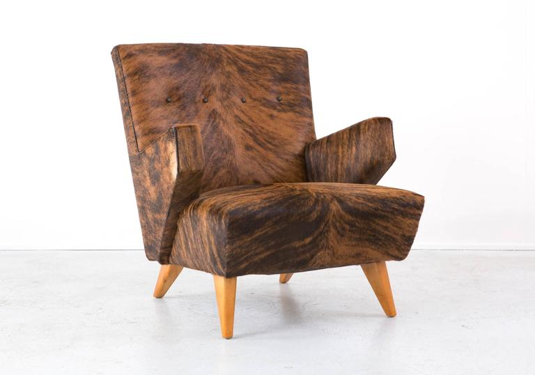 Rare Lounge Chair By Jens Risom For Knoll Reupholstered In