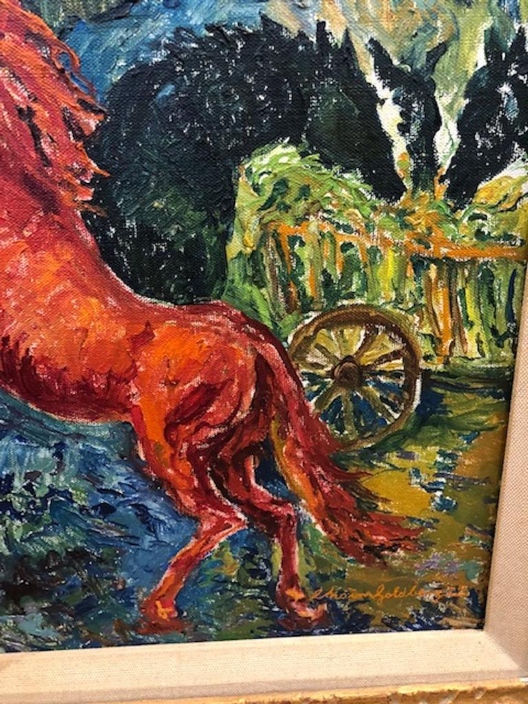 Late 20th Century Painting by Chaim Goldberg For Sale