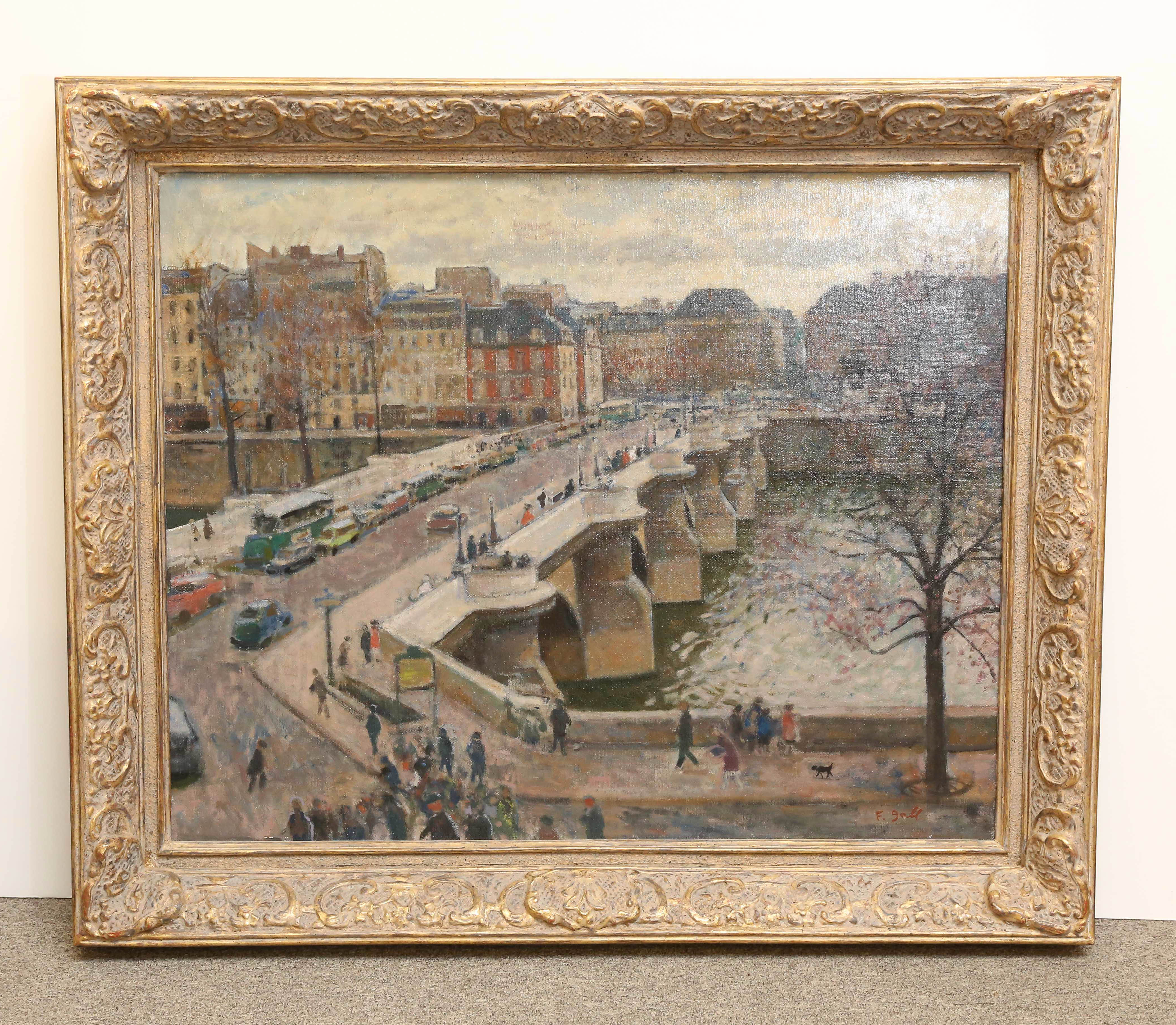 "Francois Gall Oil on Canvas, ""Le Pont Neuf a Paris"""