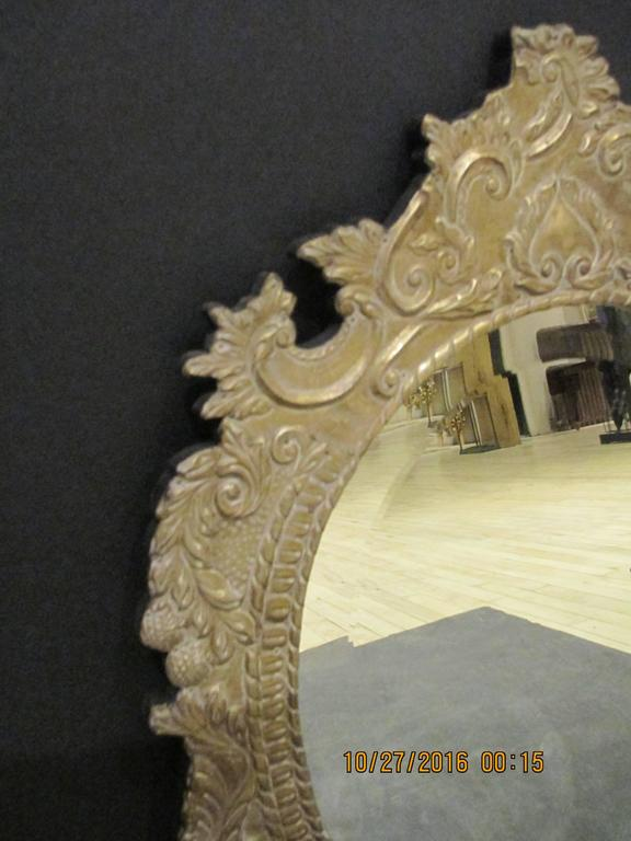 Oval Tin Metal-Clad Mirror 2