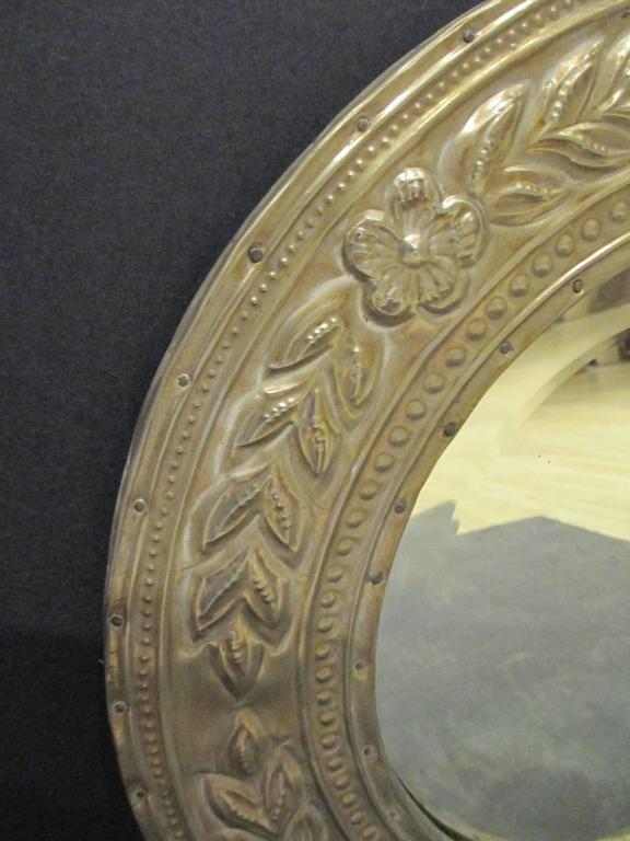 Round Metal Clad Mirror 2
