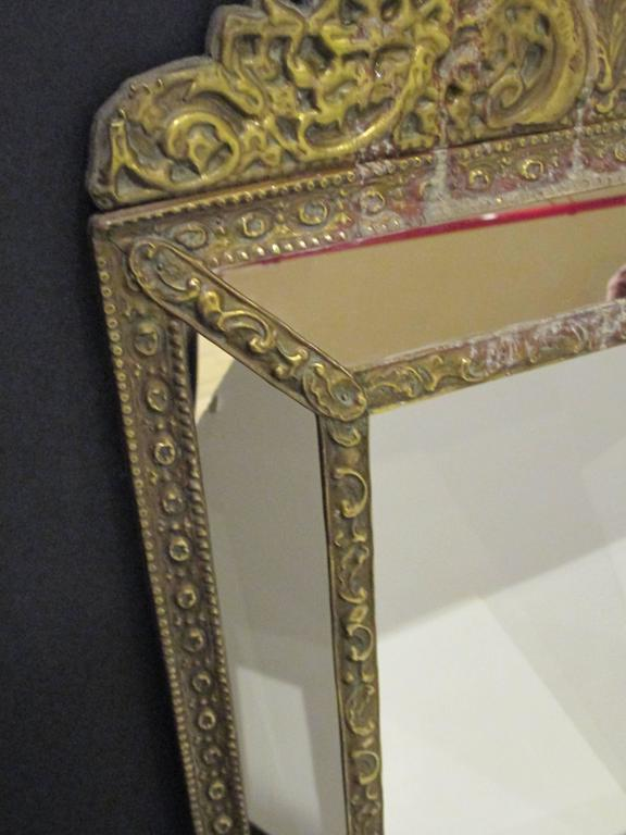 Brass Tin Frame with Mirrored Border 3