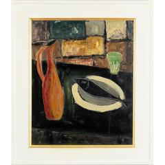 'Still Life with Black Fish' by Georges Vasseur