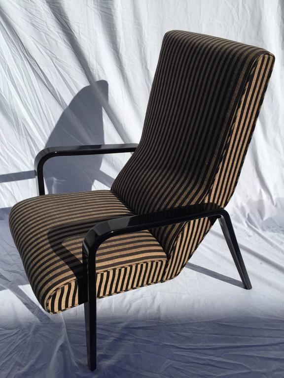 Exceptionally Comfortable Thonet Style High Back Lounge