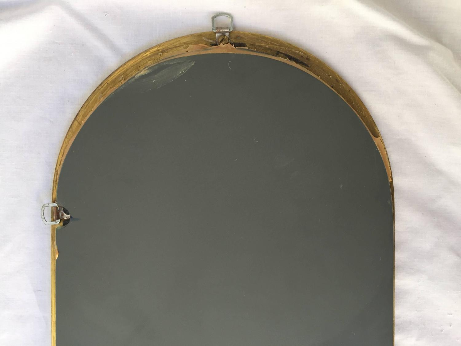 Tall and thin yes please vintage brass racetrack mirror for Mirror please