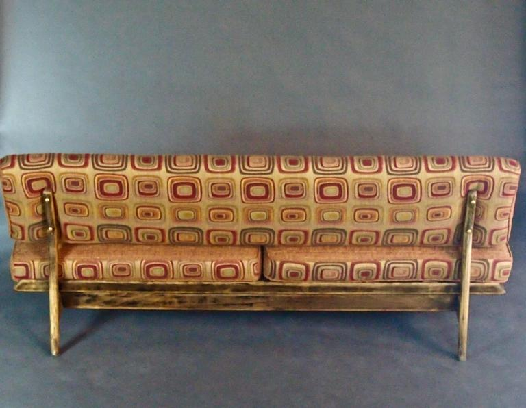 Mid Century Slipper Sofa For Sale at 1stdibs