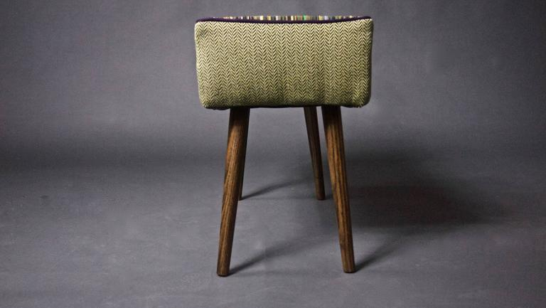 Mid Century Inspired Vanity Sized Stool For Sale At 1stdibs
