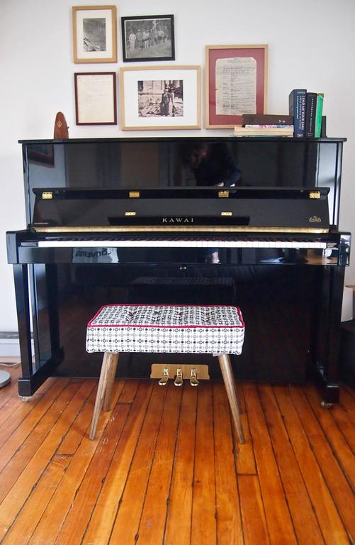 Studio Series Piano Bench Available In Custom Fabrics For Sale At 1stdibs