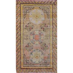Early 20th Century Khotan Rug from East Turkestan