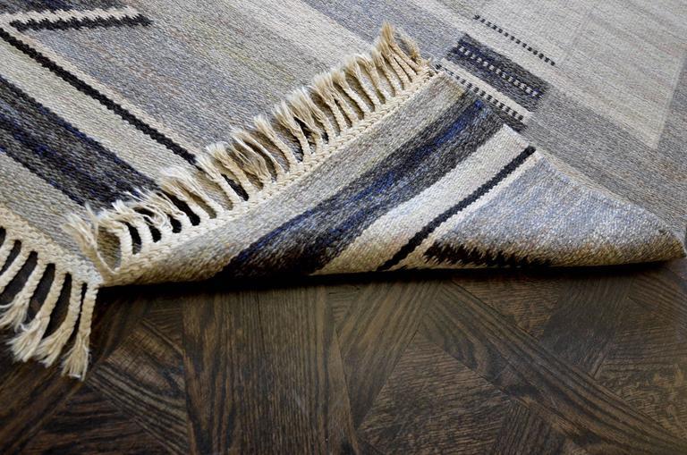 Wool Bernhard Hoetger Swedish Rug Signed by Märta Gahn For Sale