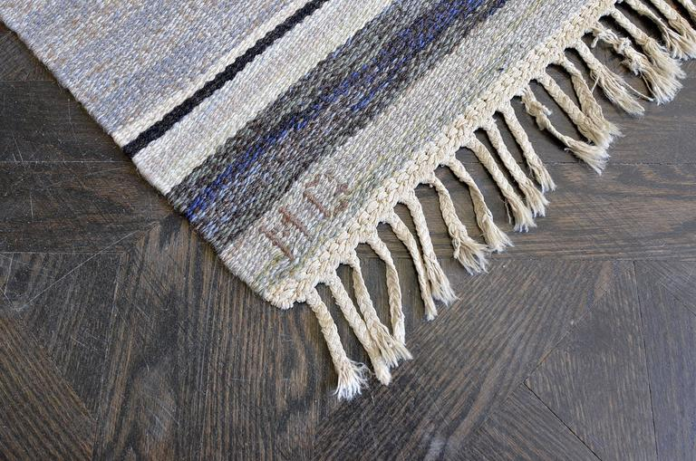 Bernhard Hoetger Swedish Rug Signed by Märta Gahn In Good Condition For Sale In West Hollywood, CA