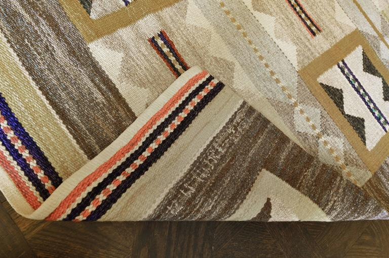 Mid 20th Century Swedish Rug Signed by Anna Maria Hoke In Excellent Condition For Sale In West Hollywood, CA