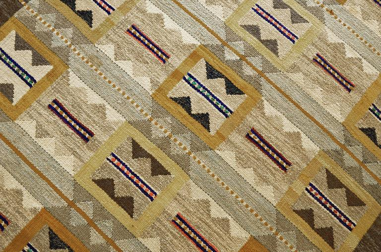 Mid-Century Modern Mid 20th Century Swedish Rug Signed by Anna Maria Hoke For Sale