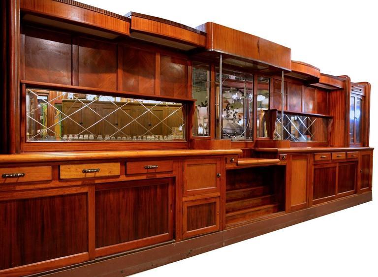 Original 1920s Mahogany Art Deco Front And Back Bar At 1stdibs