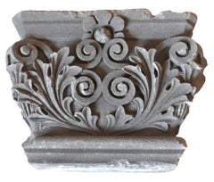 Hand-Carved Limestone Capital